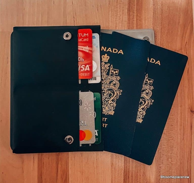 Best Minimalist travel wallet: Pacsafe passport wallet review