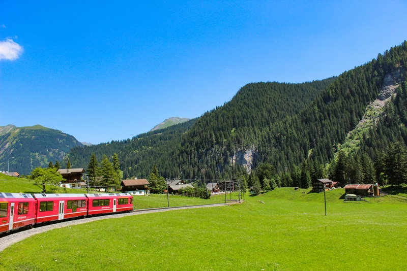 Arosa Line - Most Scenic train rides in Switzerland