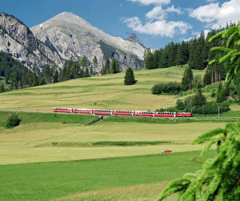 Bernina Express most scenic train rides in Switzerland
