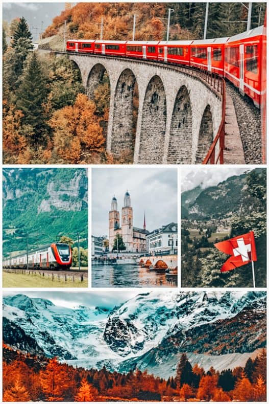 Scenes from Most Scenic train rides in Switzerland