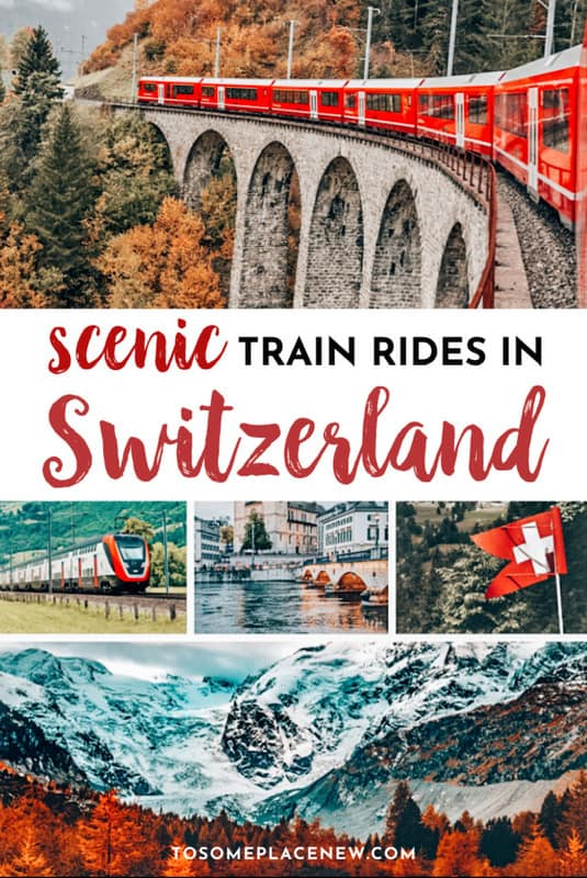Guide to the most scenic train rides in Switzerland
