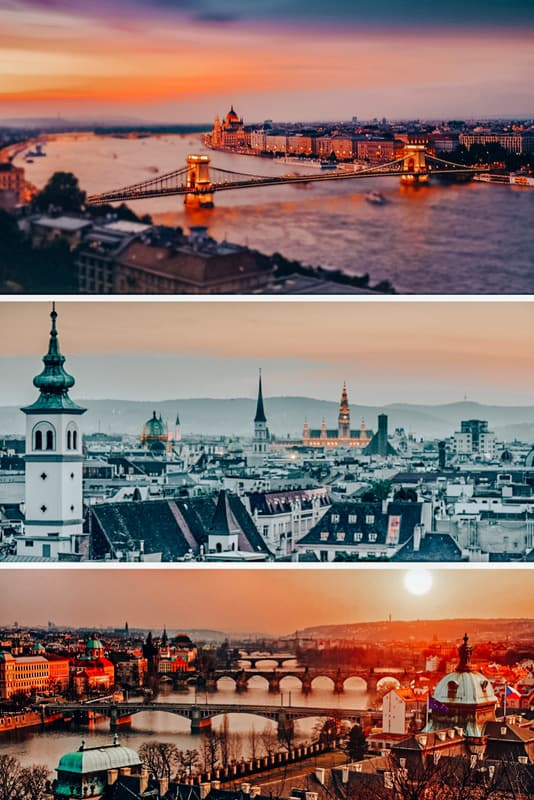 Views of Budapest Vienna Prague Tours
