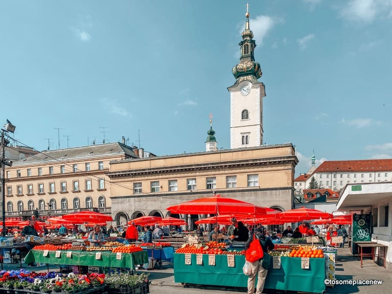Dolac Markets Zagreb Croatia itinerary