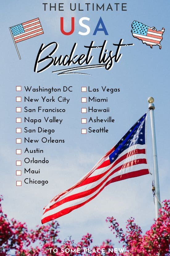 USA Bucket list cities to visit