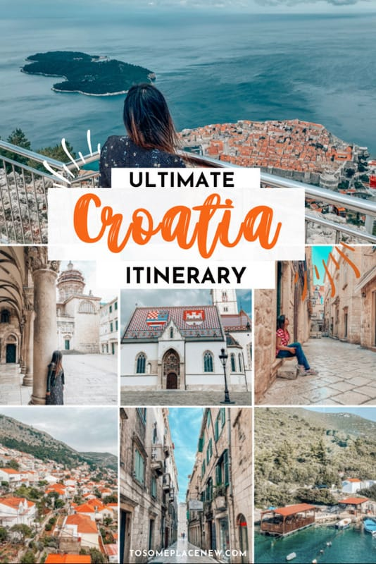 Pin for 7 days in Croatia Itinerary