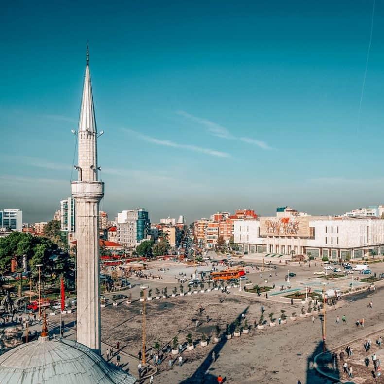 Views of Tirana Albania 2 week Balkan itinerary