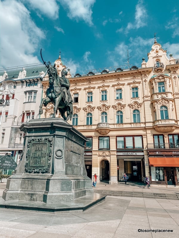 Zagreb Central Square in Balkan travel itinerary