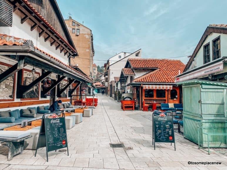 Cafes in old town Sarajevo