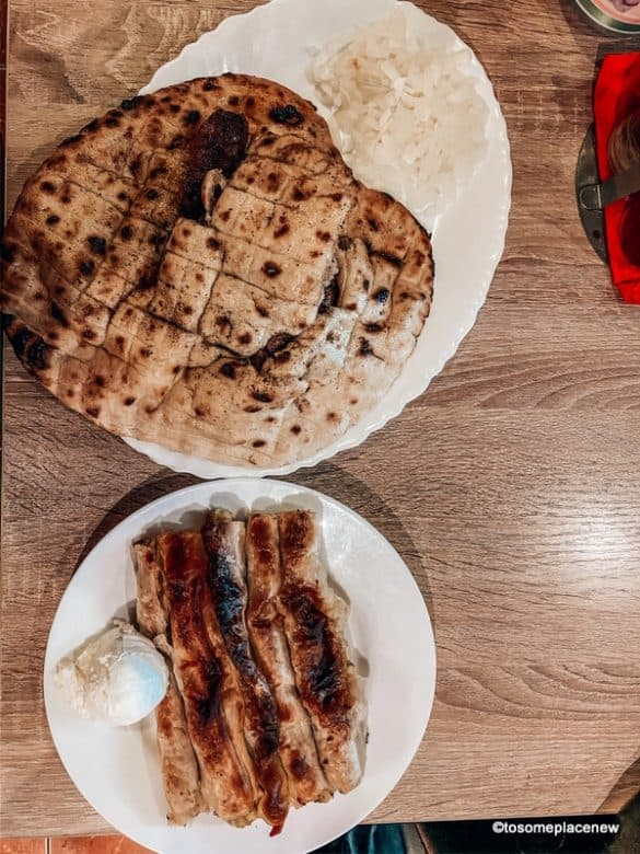 Dinner in Sarajevo - Cevapi and Potato Pie