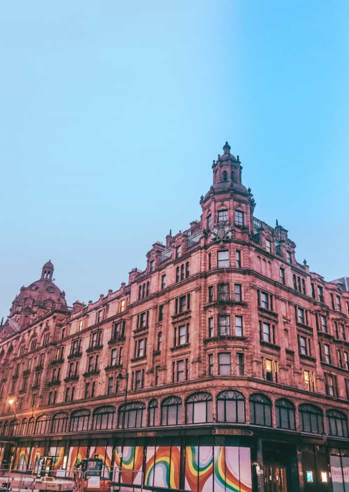 Harrods at twilight