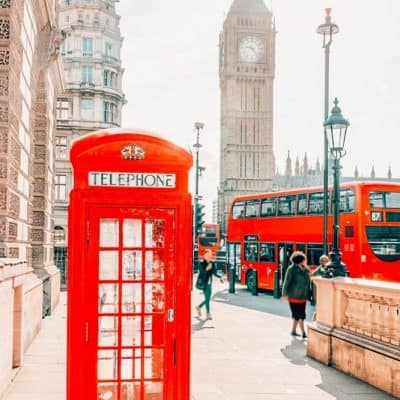 London bucket list red phonebooth