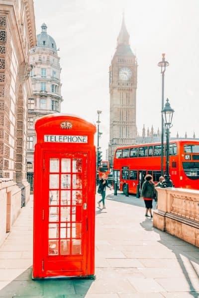 London bucket list red phonebooth