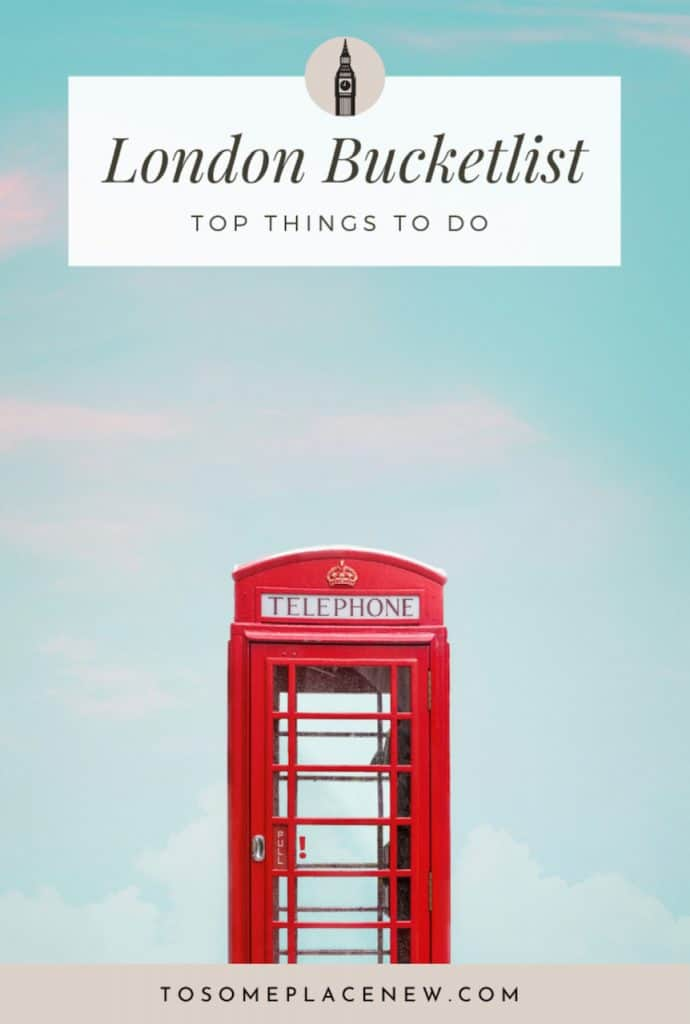 Pin for London bucketlist