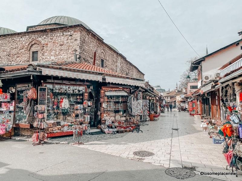 Baščaršija is Sarajevo's old bazaar