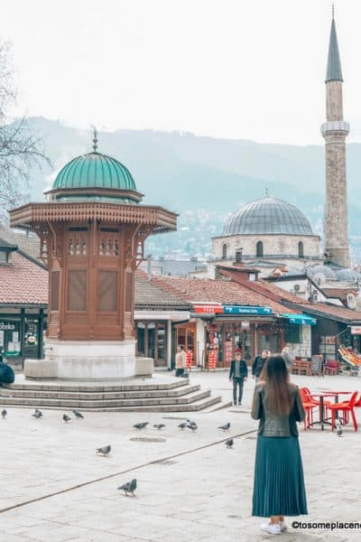 Old Town views in One day in Sarajevo Itinerary