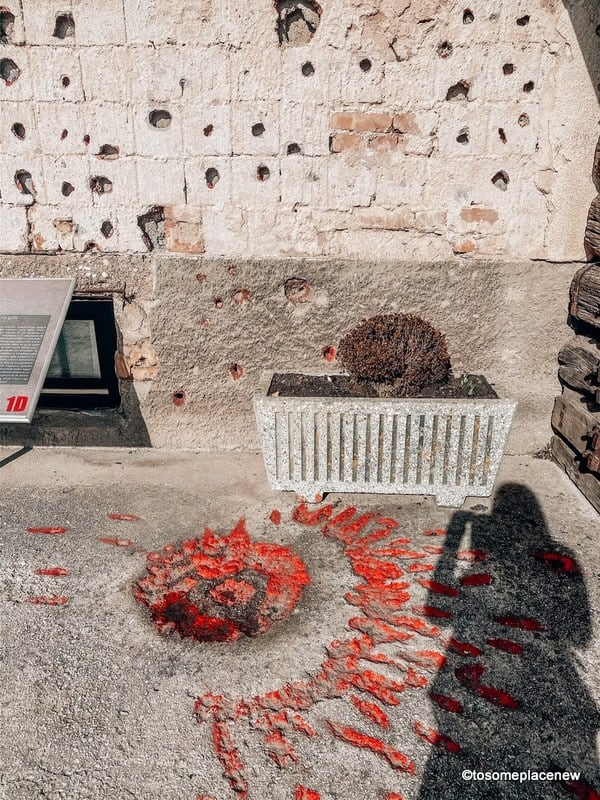 Sarajevo Roses in War Tunnel