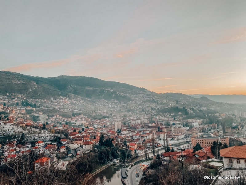 Sarajevo views from Yellow Fortress