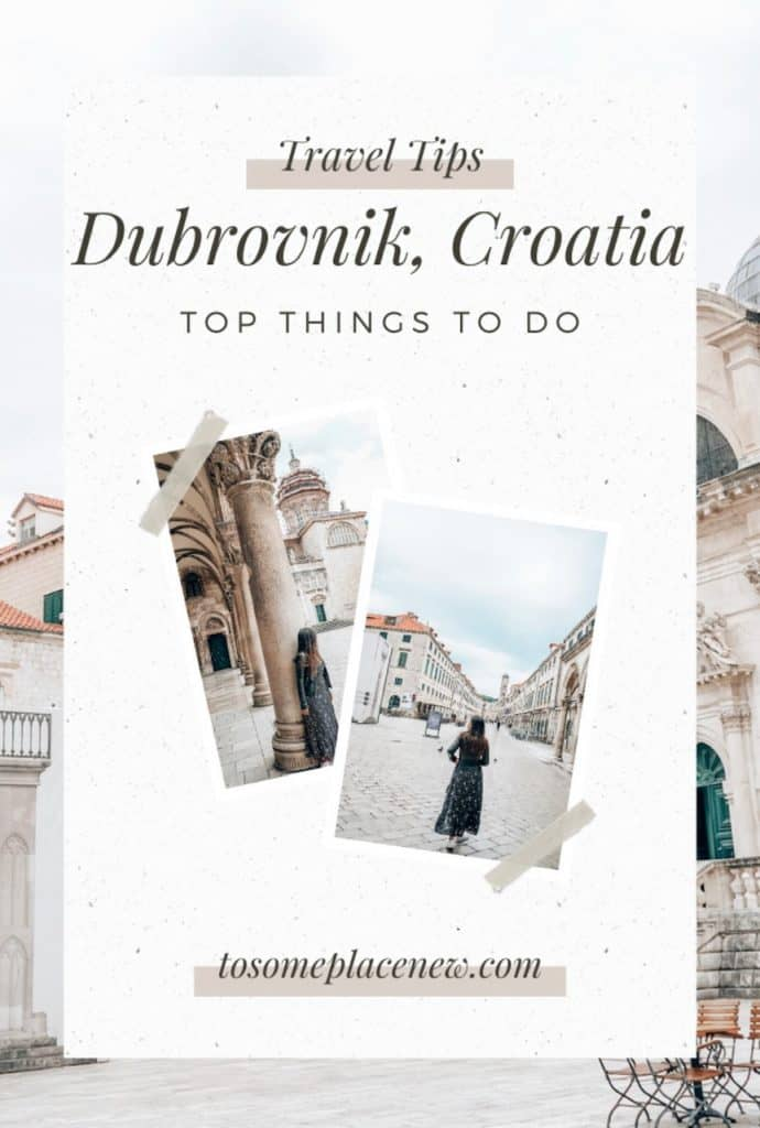3 days in Dubrovnik itinerary