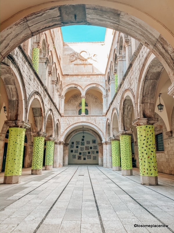 Inside The Sponza Palace is a 16th-century palace located at the main street.