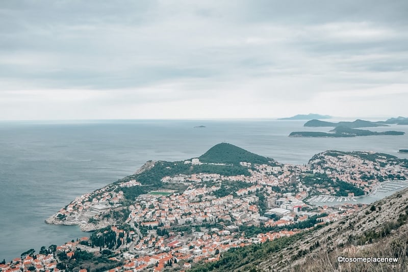 Views of Dubrovnik from the cable car