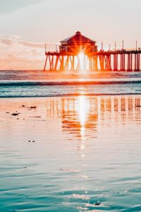 Beach towns and coastal cities in California