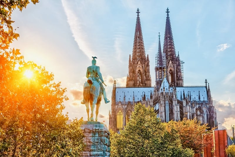 View on Cologne cathedral at sunset Weekend trips from Paris