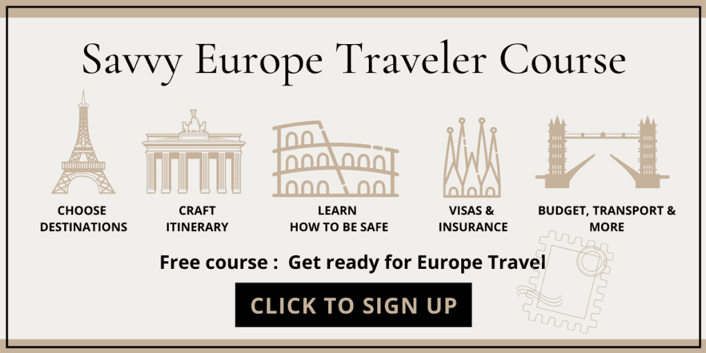 Savvy Europe Traveler Course - planning a trip to Europe step by step guide