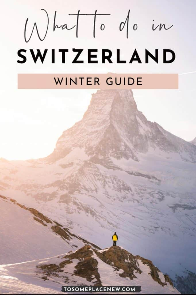 Pin for What to do in Switzerland in Winter