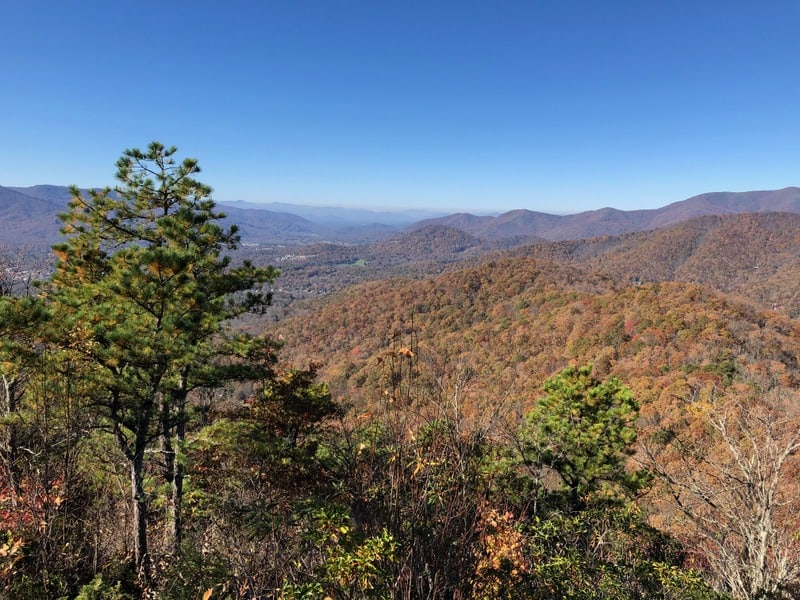 Asheville Hiking in the fall
