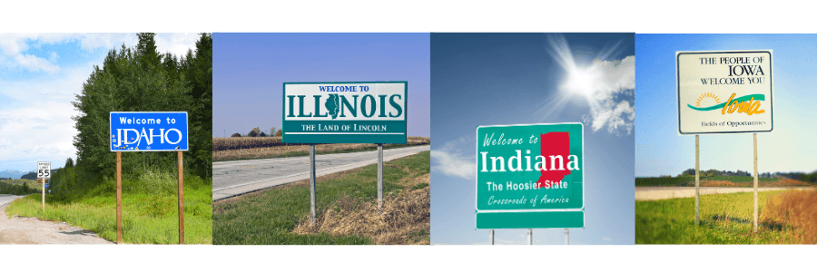 USA Bucket list Idaho Illinois Indiana Iowa