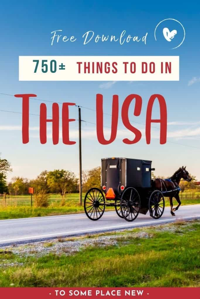 Discover 750+ things to do in USA Bucket list with free 50 States Checklist to start exploring and checking off your desired destinations!