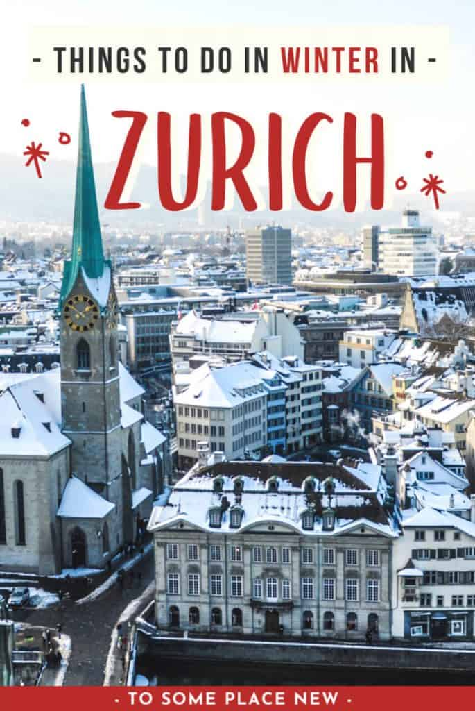 Pin for Zurich in winter
