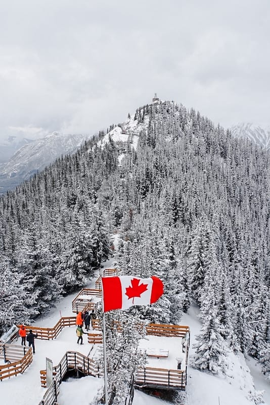 Banff Gondola Best Places to visit in Canada in winter