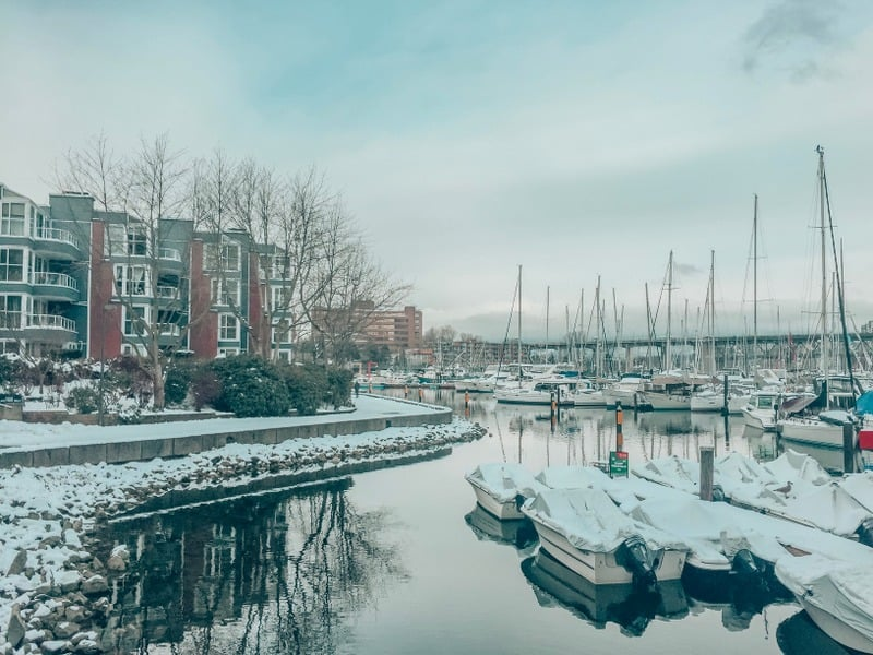 Vancouver Waterfront in winter