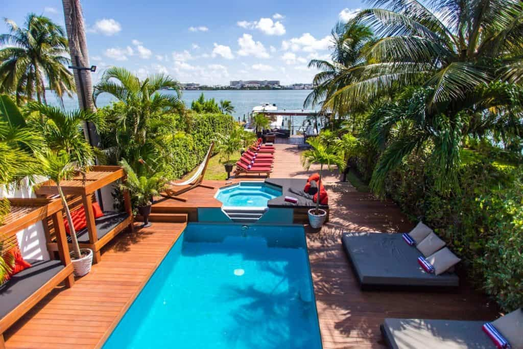 Trendy Waterfront Villa one of the best airbnbs in Cancun