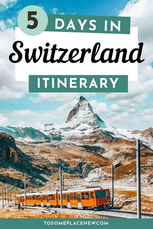 Pin for Switzerland Itinerary 5 days