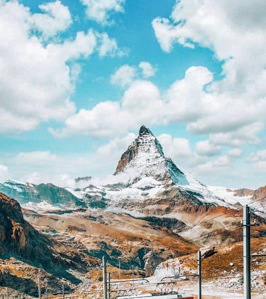 View of Matterhorn, Zermatt Switzerland itinerary