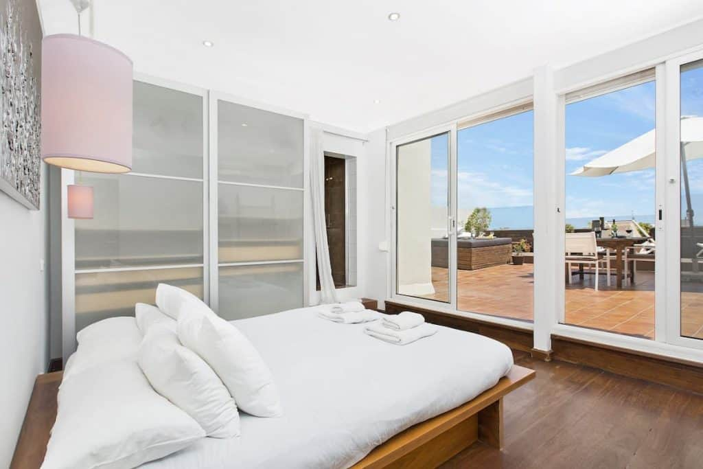 this Barcelona Penthouse with views is one of the best airbnbs in Spain