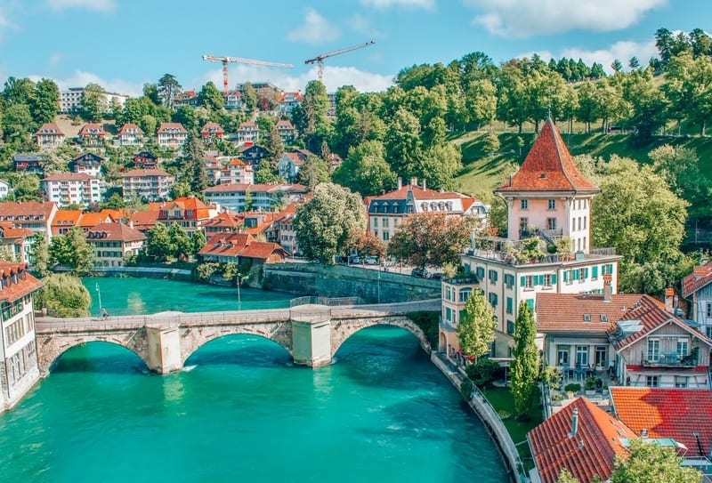 View of Bern with River Aare