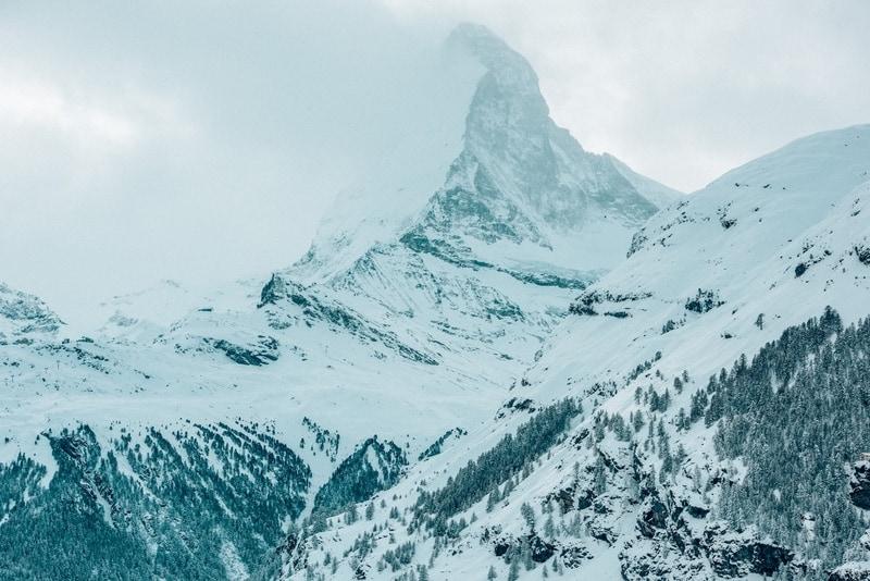 Matterhorn on a snowy day