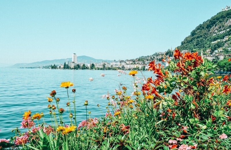 Views of Montreux in summer time