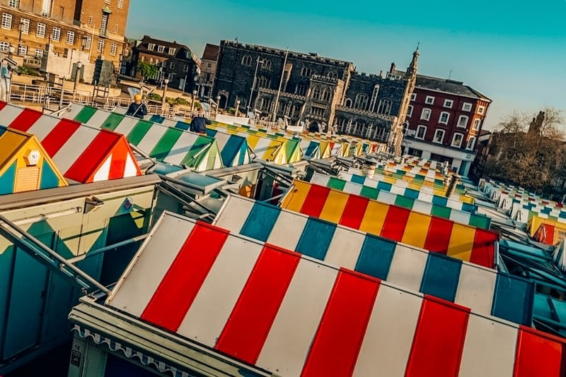 Colorful Norwich Markets