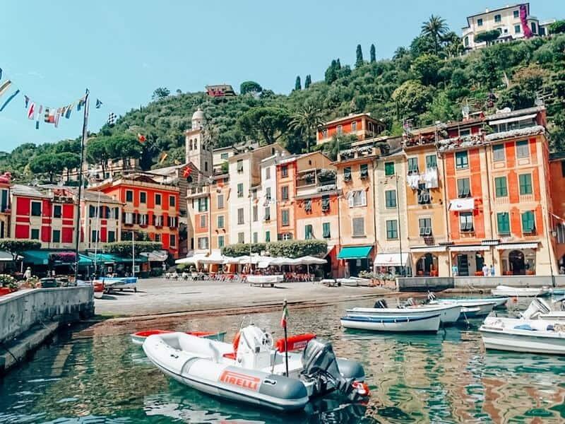 Italy's Portofino colorful houses
