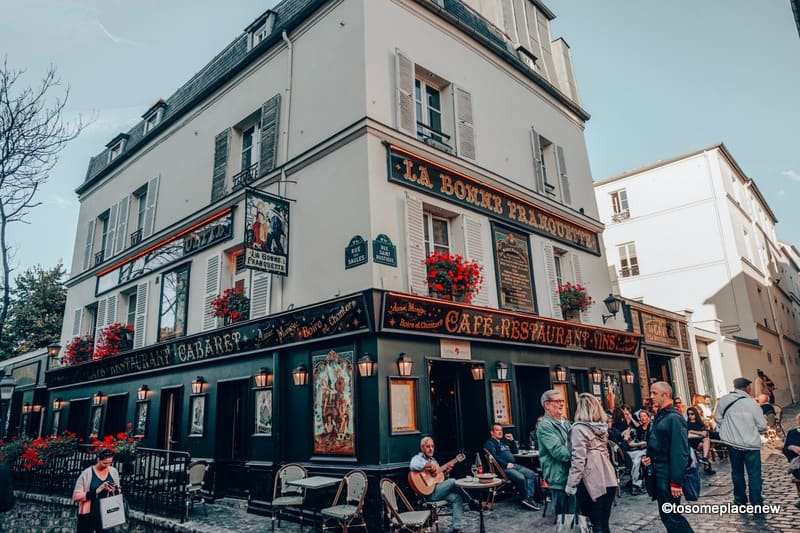 Montmartre Restaurants Paris travel itinerary