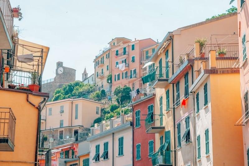 Colorful houses in Riomaggiore town