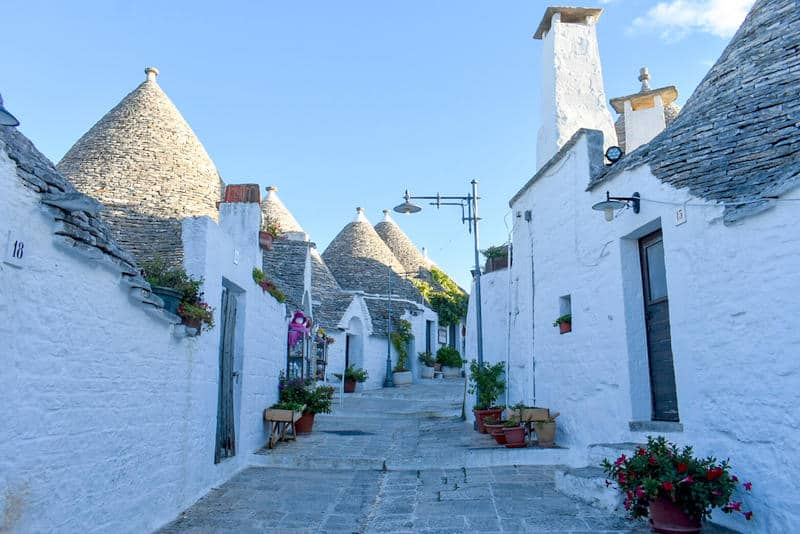 Street in Alberobello - hidden gems in Europe