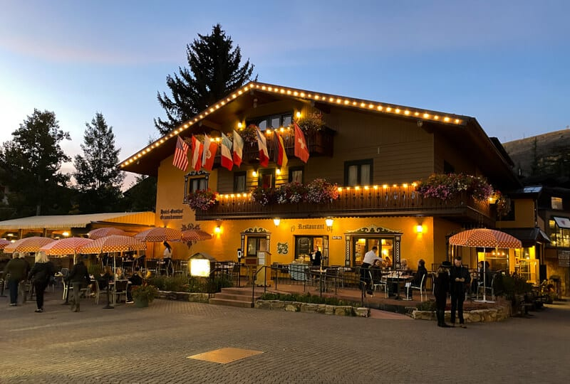 Vail in Colorado brings in Bavarian architecture and vibes