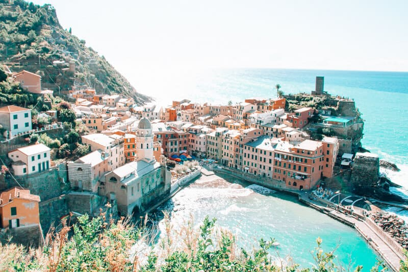 Italian Riviera Town of Vernazza