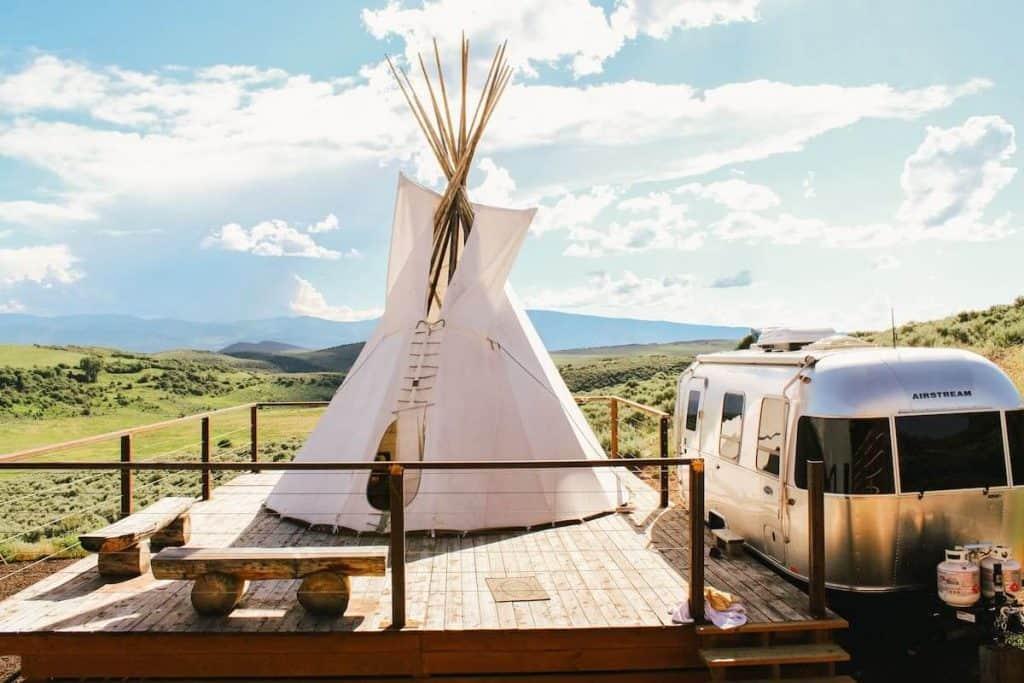 Airstream & Tipi nr Aspen at Ten Peaks Ranch