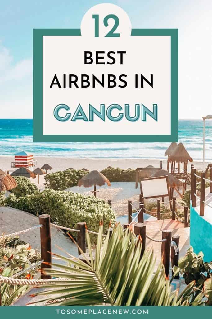 Pin for Cancun Mexico Airbnb